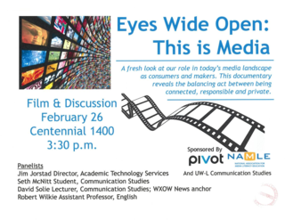 """Flyer for """"Eyes Wide Open"""" Film Showing"""